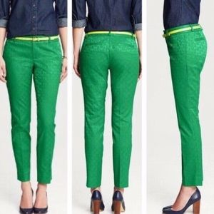 Banana Republic Hampton Green Pants Sz 8